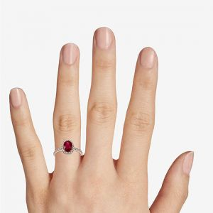 Кольцо с натуральным рубином - Фото 2