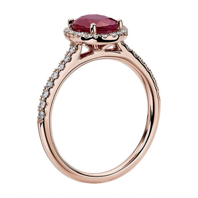 Кольцо с натуральным рубином - Фото 1