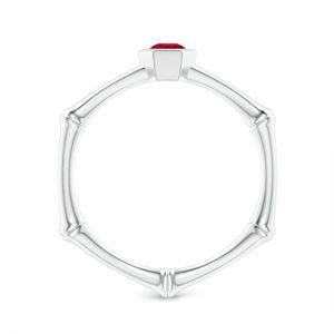 Золотое кольцо с рубином - Фото 1