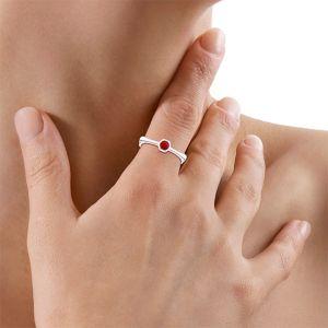 Золотое кольцо с рубином - Фото 3