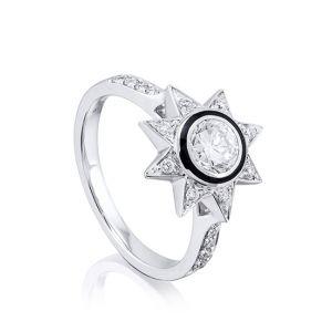 Кольцо с бриллиантом Звезда
