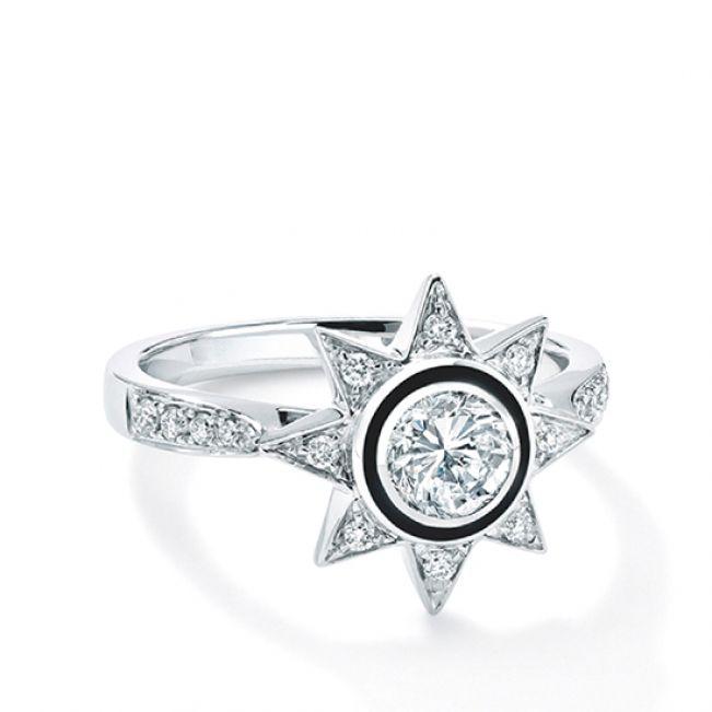 Кольцо с бриллиантом Звезда - Фото 1