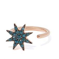 Кольцо с сапфирами Звезда