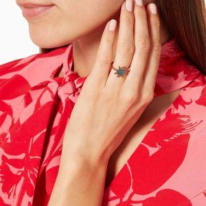 Кольцо с сапфирами Звезда - Фото 3