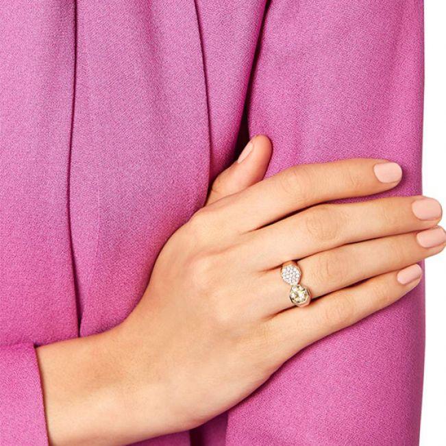 Кольцо с бриллиантами и цитрином - Фото 3