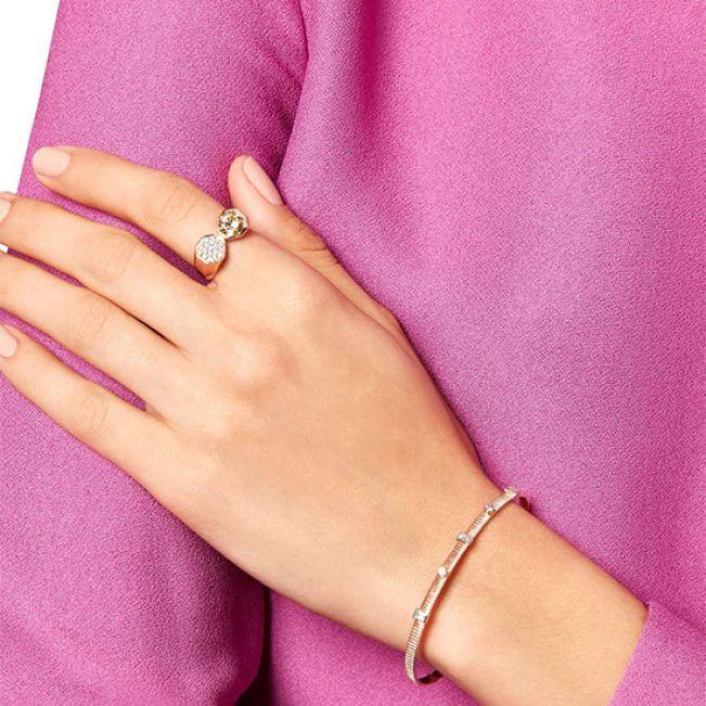 Кольцо с бриллиантами и цитрином - Фото 4