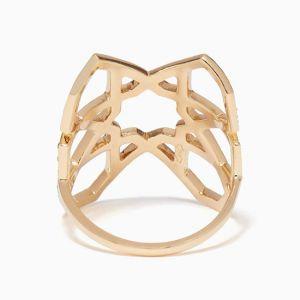 Широкое геометричное кольцо - Фото 1