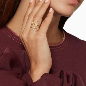 Широкое геометричное кольцо - Фото 3