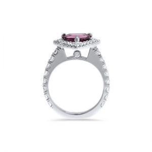 Кольцо со шпинелью и бриллиантами - Фото 1