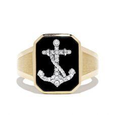 Мужское кольцо с Якорем