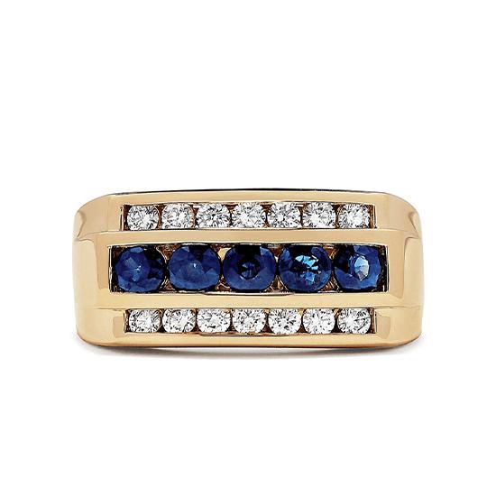Мужское кольцо с сапфирами, Больше Изображение 1