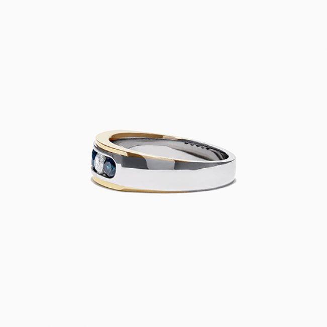 Мужское кольцо с сапфирами - Фото 2