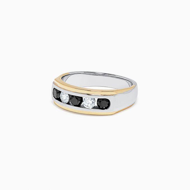 Мужское кольцо с бриллиантами - Фото 1