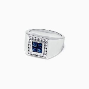 Мужское кольцо с сапфирами  - Фото 1