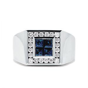 Мужское кольцо с сапфирами