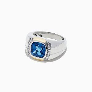 Мужское кольцо с топазом - Фото 1