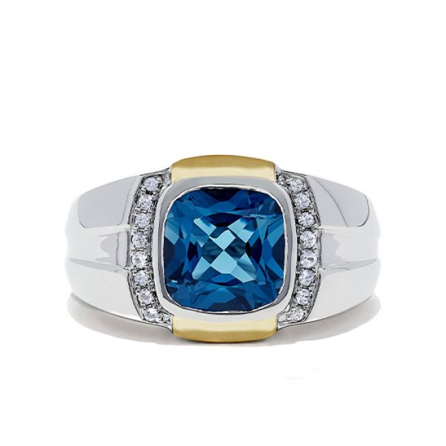 Мужское кольцо с топазом