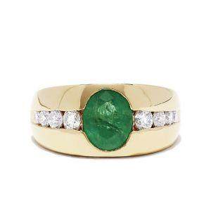 Мужское кольцо с изумрудом