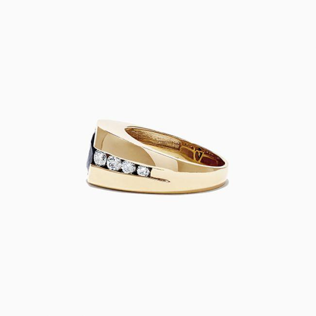 Мужское кольцо с сапфиром - Фото 2
