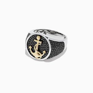 Мужское кольцо Якорь - Фото 1