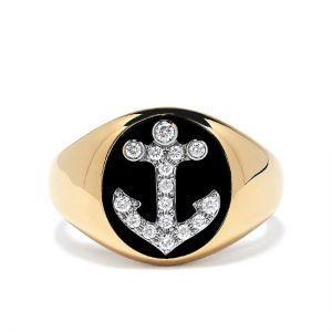 Мужское кольцо Якорь