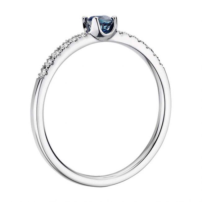 Помолвочное кольцо с сапфиром - Фото 1