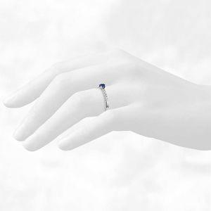 Помолвочное кольцо с сапфиром - Фото 3