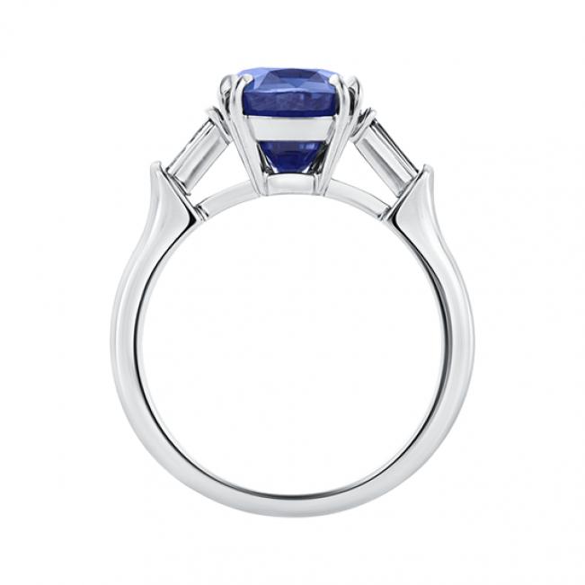 Кольцо с сапфиром и бриллиантами  - Фото 1