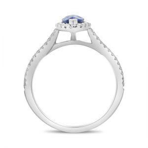 Кольцо с сапфиром и бриллиантами  - Фото 2