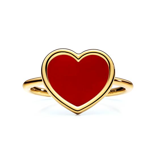 Кольцо Сердечко с эмалью, Больше Изображение 1