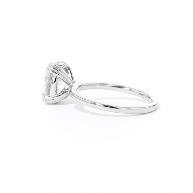 Овальное помолвочное кольцо - Фото 2