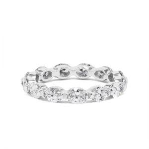 Кольцо дорожка с бриллиантами овал по кругу