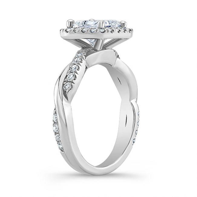 Кольцо с брилллиантом принцесса - Фото 2
