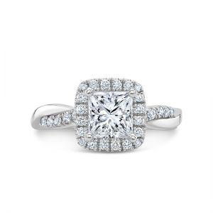 Кольцо с брилллиантом принцесса