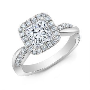 Кольцо с брилллиантом принцесса - Фото 1