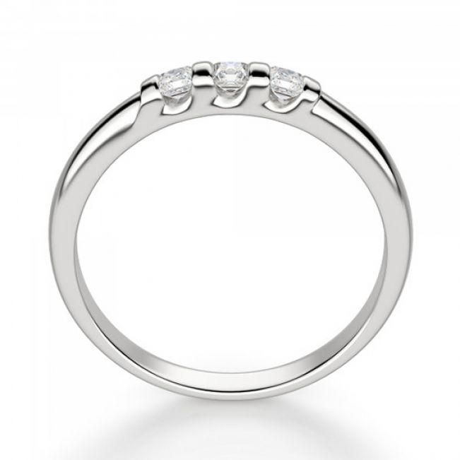 Обручальное кольцо с 3 квадратными бриллиантами - Фото 2