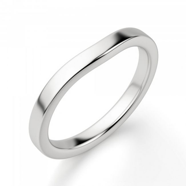 Изогнутое обручальное кольцо - Фото 2