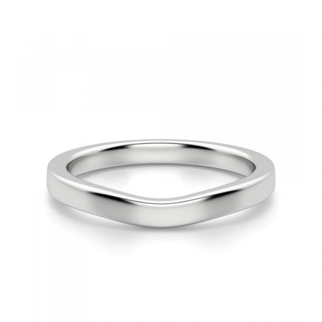 Изогнутое обручальное кольцо