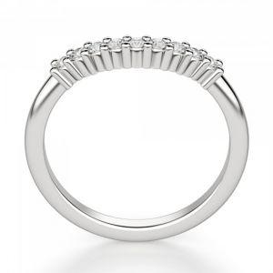 Изогнутое кольцо с 9 бриллиантами - Фото 2