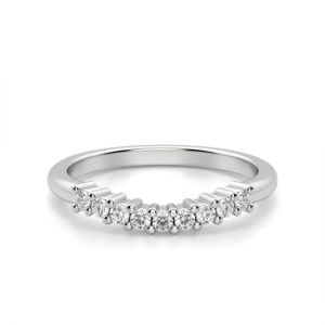 Изогнутое кольцо с 9 бриллиантами