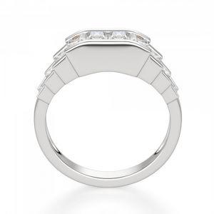Кольцо ступенчатое с квадратными бриллиантами 1.3 кт - Фото 2