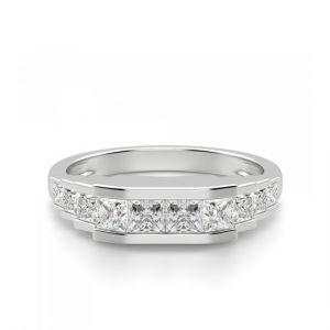 Кольцо ступенчатое с квадратными бриллиантами 1.3 кт