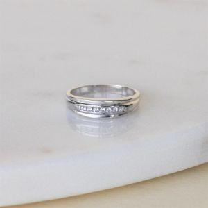 Обручальное кольцо с 7 бриллиантами - Фото 5