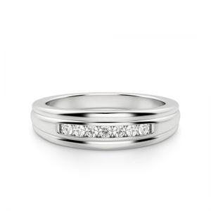 Обручальное кольцо с 7 бриллиантами