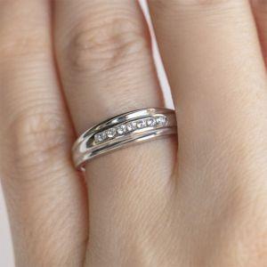Обручальное кольцо с 7 бриллиантами - Фото 3