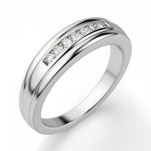 Обручальное кольцо с 7 бриллиантами - Фото 1