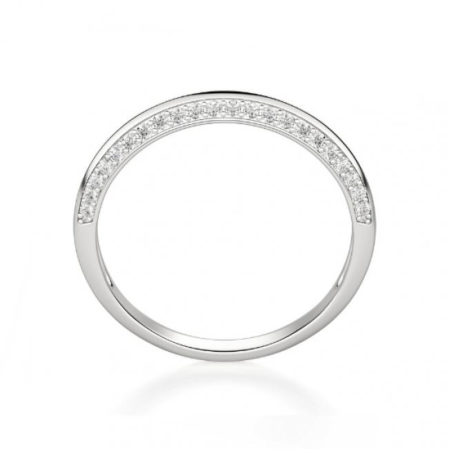 Кольцо из белого золота с бриллиантами на гранях - Фото 1