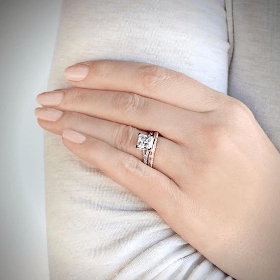 Кольцо с бриллиантами на гранях,  Больше Изображение 4