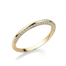 Кольцо с бриллиантами на гранях