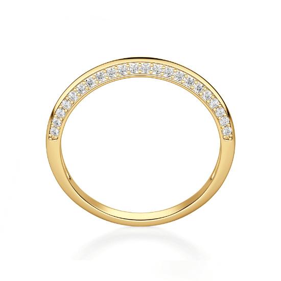 Кольцо с бриллиантами на гранях,  Больше Изображение 3